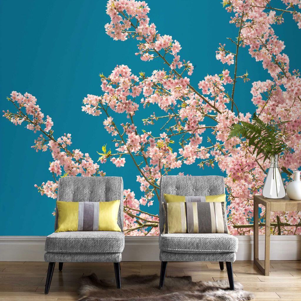 Cherry blossom wall mural grahambrownuk for Cherry blossom mural on walls
