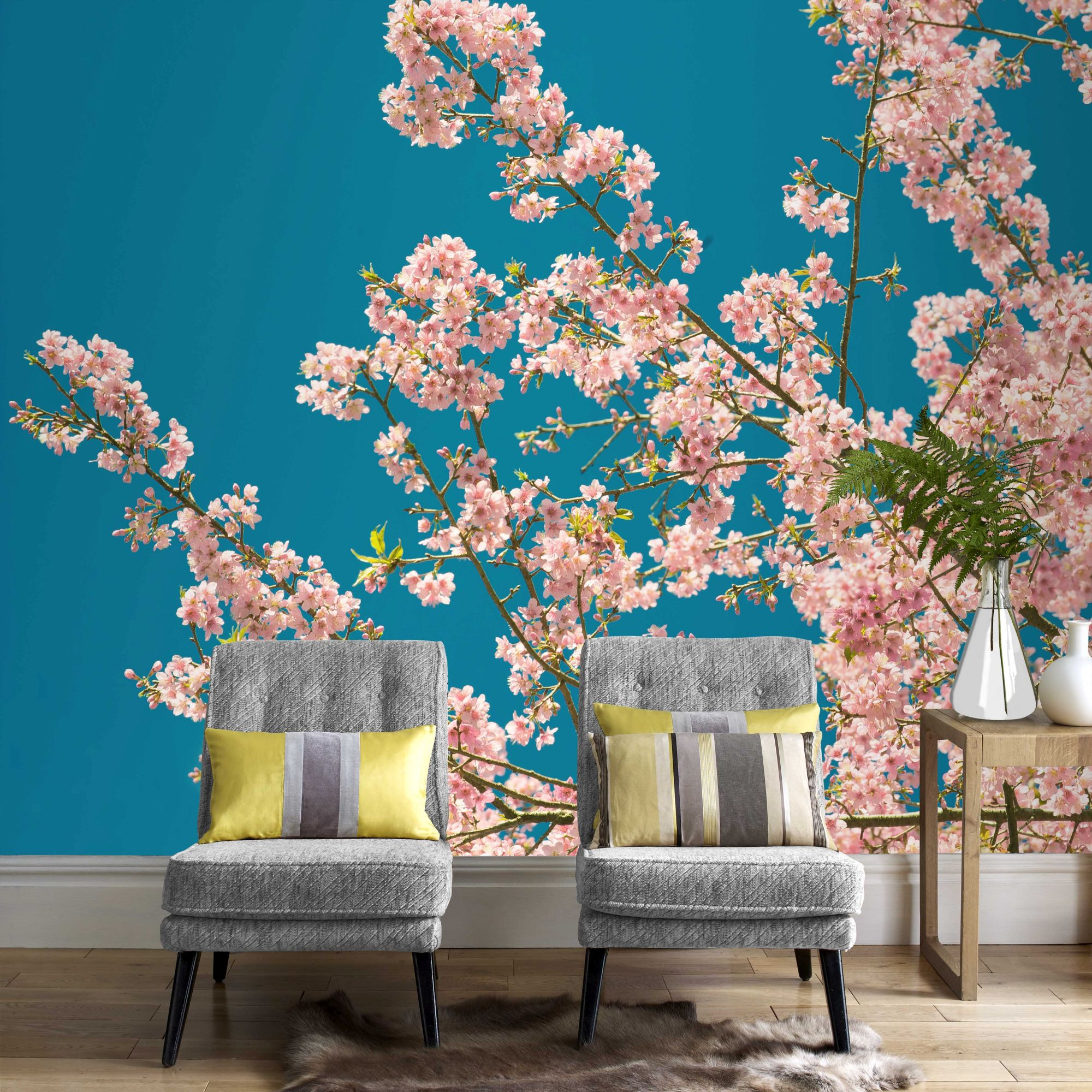 Twitter · Facebook · Google Plus · Pinterest · Cherry Blossom Wall Mural ...