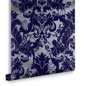 Forest Muses Electric Blue Wallpaper, , large