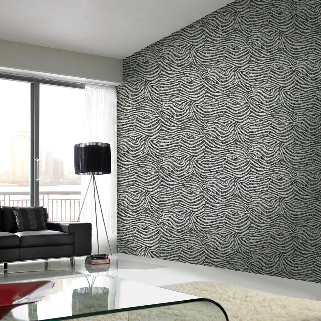 Zebra white and black wallpaper graham brown - Papier peint noir et argent ...