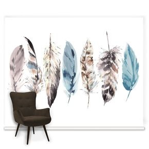 Couture Watercolour Feathers Mural, , large
