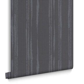 Laddered Stripe Midnight Wallpaper, , large