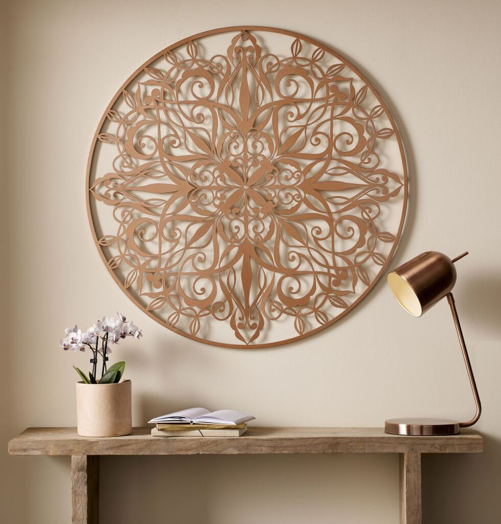 Copper luxe metal art grahambrownuk for Deco murale metal