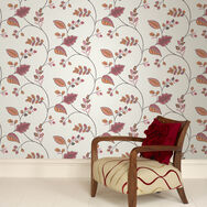 Folklore Orange Wallpaper, , large