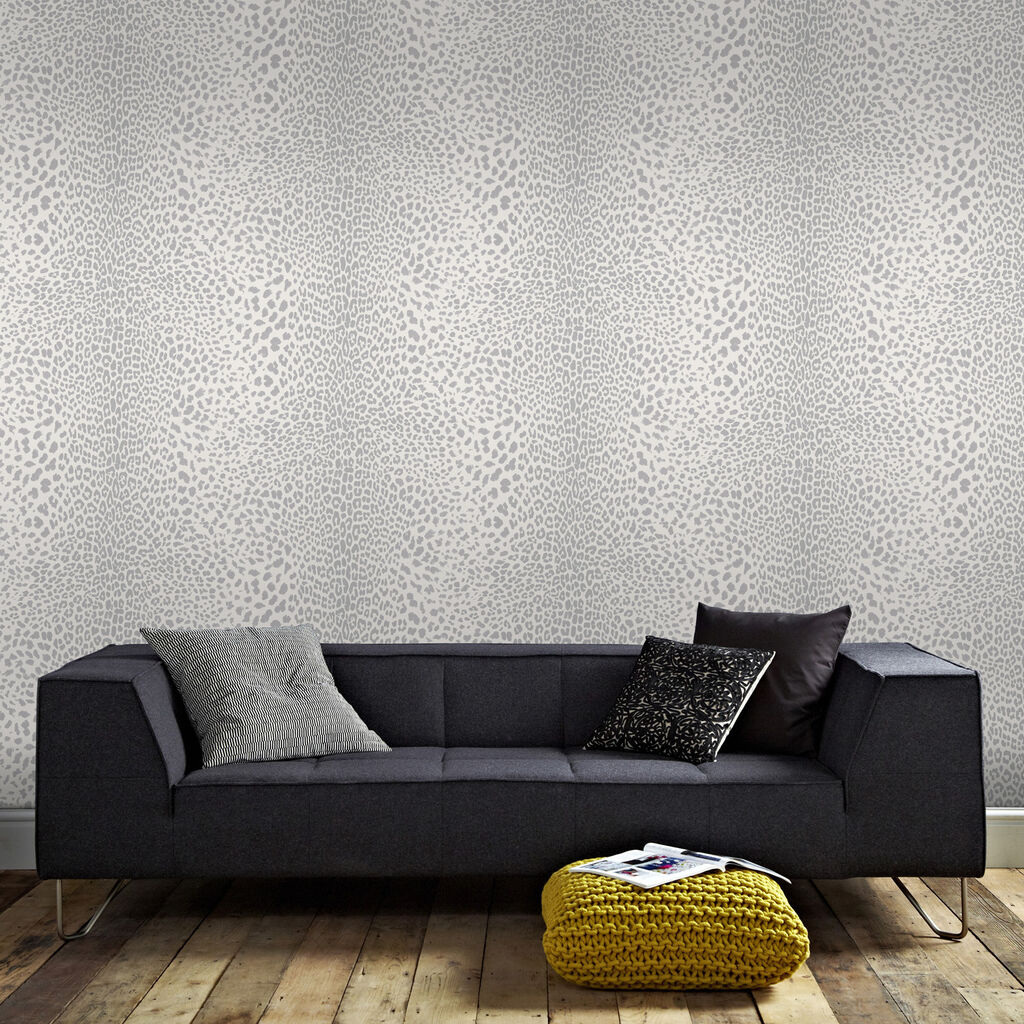 leopard print wallpaper white silver wallpaper graham brown. Black Bedroom Furniture Sets. Home Design Ideas
