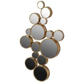 Geometric Gold Spheres Mirror, , large