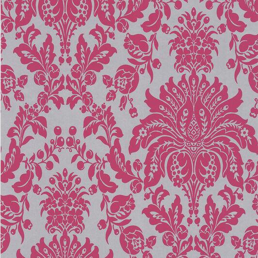 Elizabeth pink and silver wallpaper grahambrownus for Pink and silver wallpaper