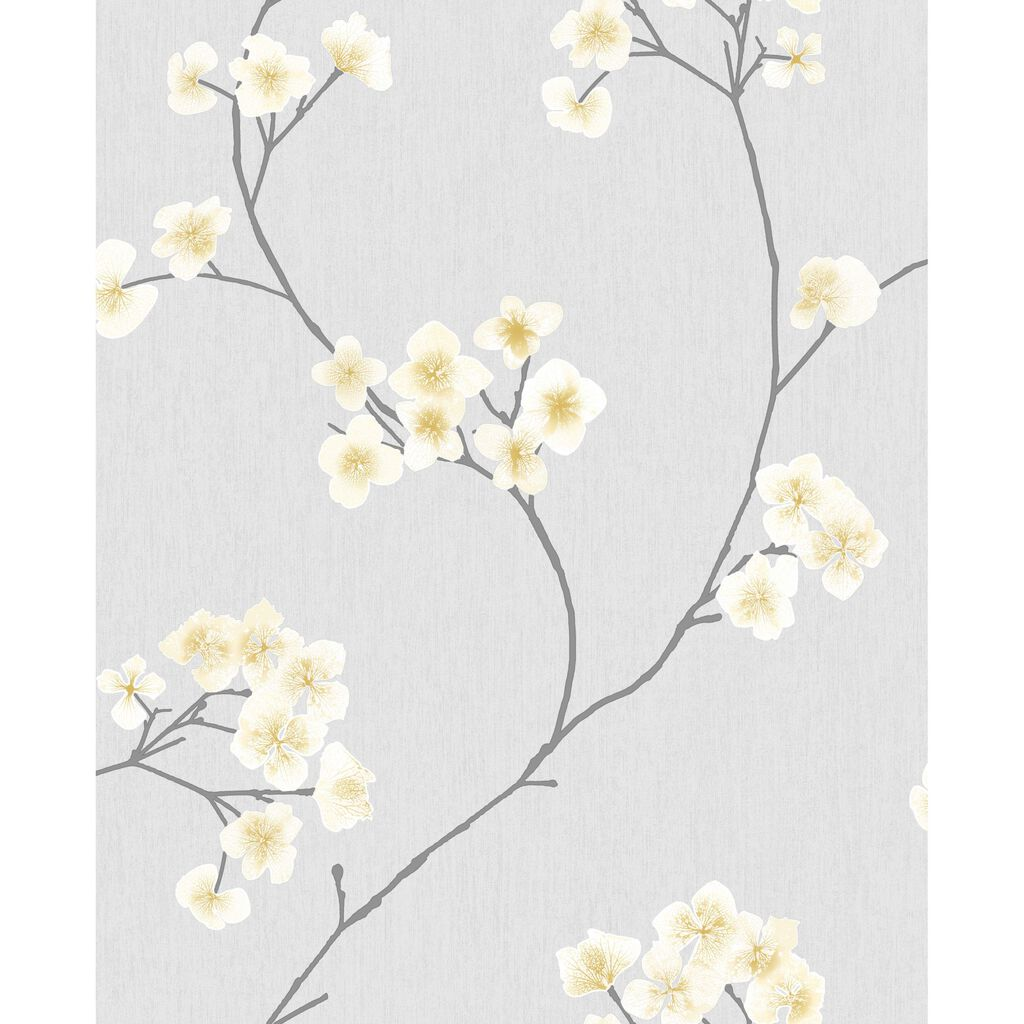 Radiance grey and ochre wallpaper graham brown for Wallpaper to go