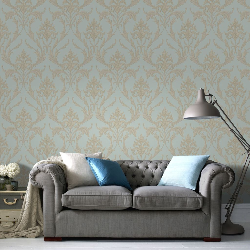 Oxford teal gold graham brown - Tapisserie graham brown ...