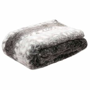 Arctic Greys Faux Fur Throw, , large