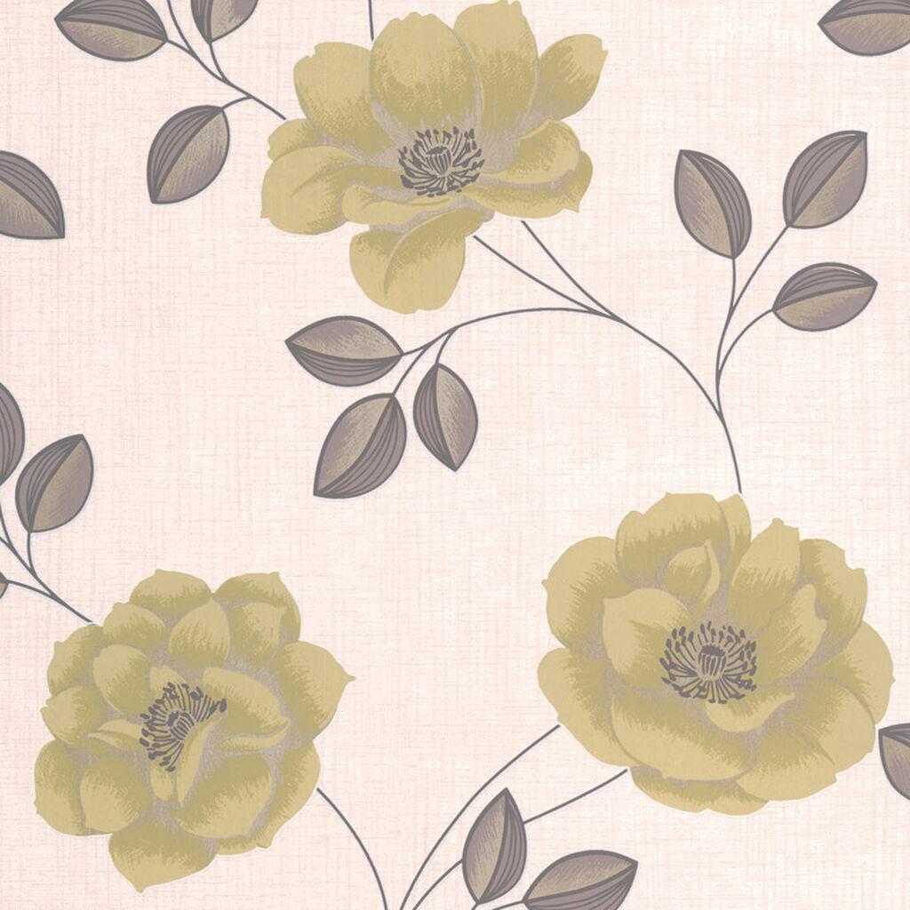 Flavia Green Wallpaper Grahambrownuk