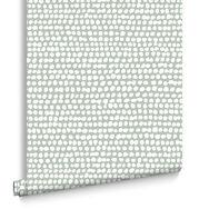 Dots Green Behang, , large