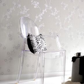 Cherry Blossom White Mica Wallpaper, , large