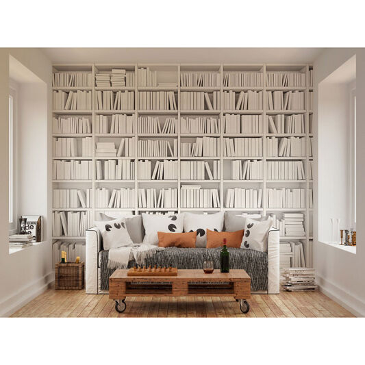 Library White Wall Mural - GrahamBrownUK