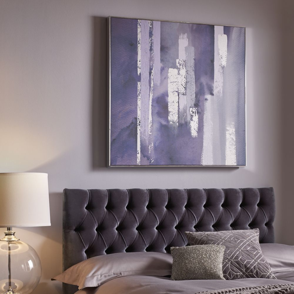 ... Large Purple Harmony Framed Canvas Wall Art, ...