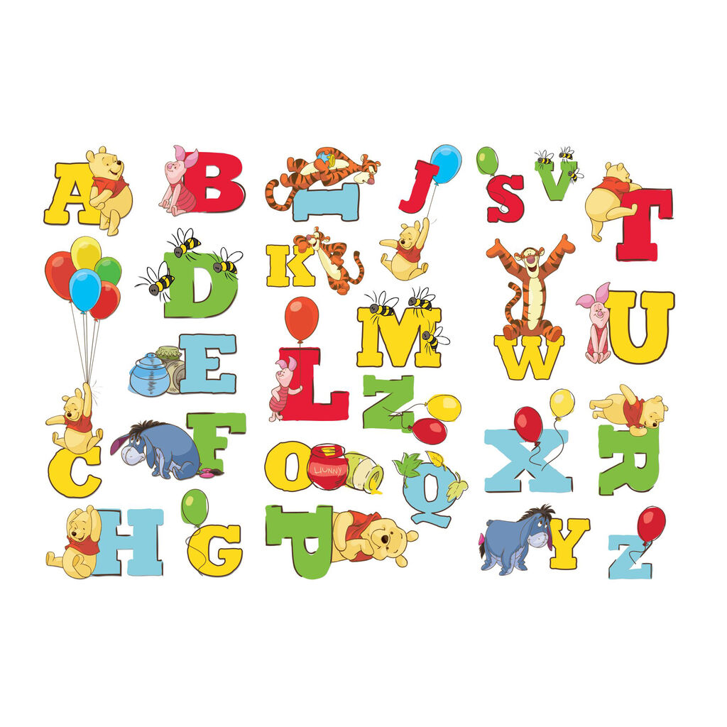 Winnie l ourson alphabet stickers grahambrownfr - Lettre alphabet winnie l ourson ...