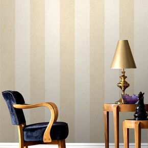 Artisan Stripe Oyster Wallpaper, , large
