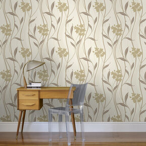 Elise Natural Wallpaper, , large