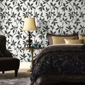 Elisa Charcoal Wallpaper, , large