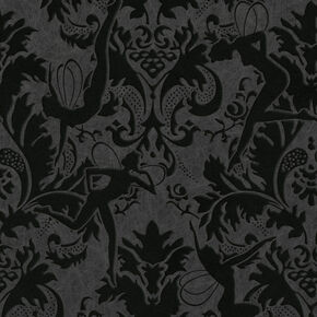 Forest Muses Black Wallpaper, , large