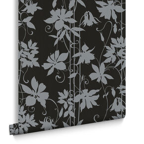 Paradise Garden Midnight Black Wallpaper, , large