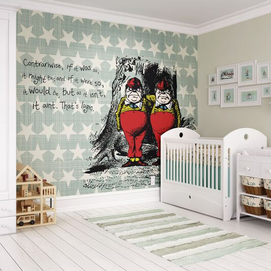 Contrariwise Wall Mural, , large