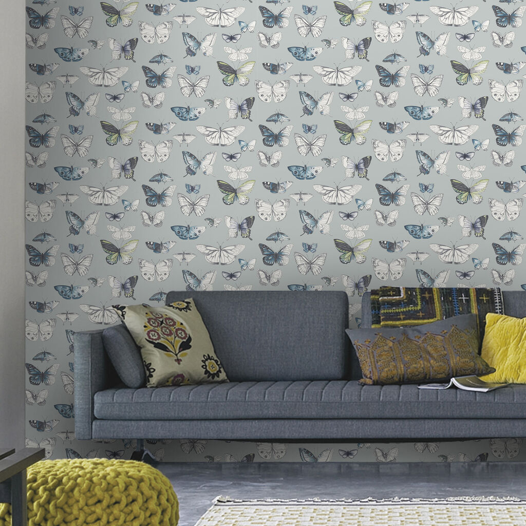 butterflies duck egg wallpaper graham u0026 brown