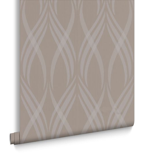 Neo Taupe Wallpaper, , large