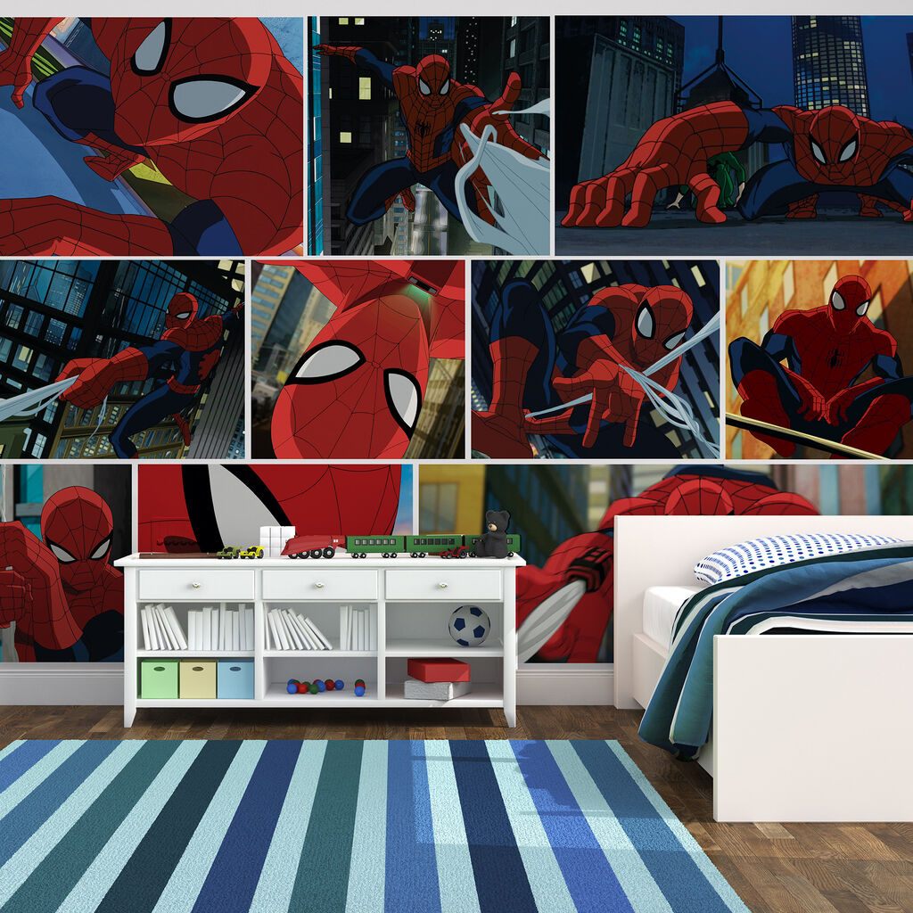 Digital mural spiderman graham brown for Digital wallpaper mural