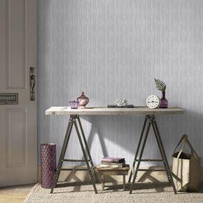 Light Grey Jute Wallpaper, , large