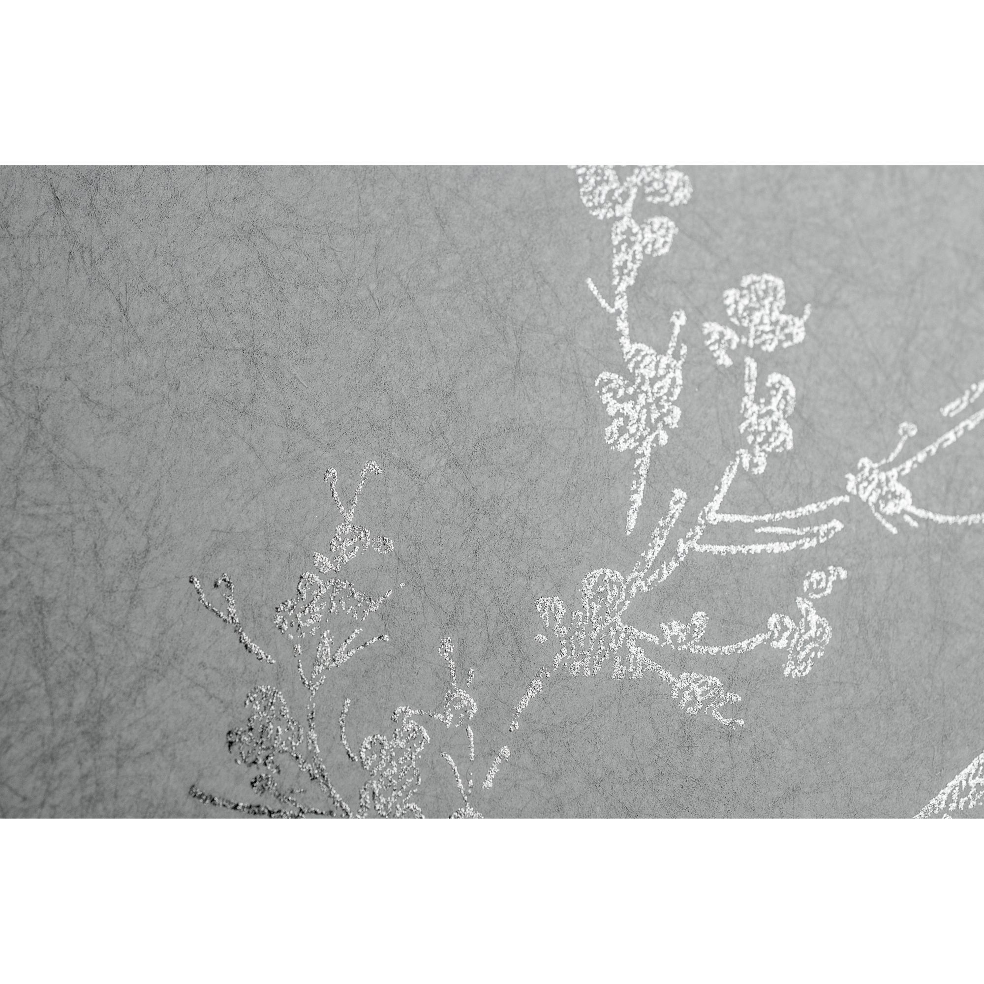 Muriva Precious Silks Marrakesh Wallpaper Silver / Grey (601536 ...