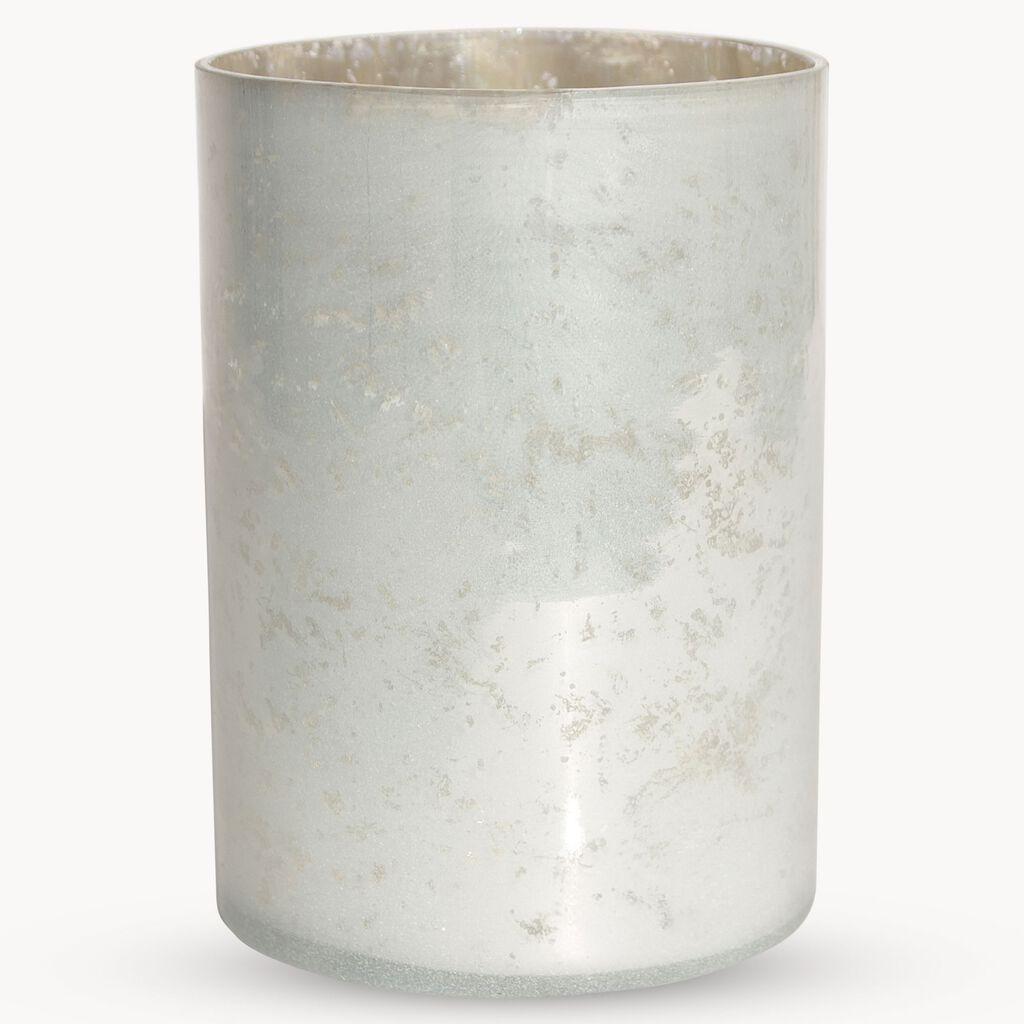Silver Glass Tealight Holder Large Grahambrownuk