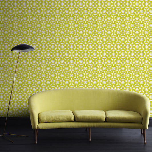 Lime Green Living Room Wallpaper Living Room