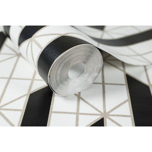 linear noir et blanc papier peint grahambrownfr. Black Bedroom Furniture Sets. Home Design Ideas