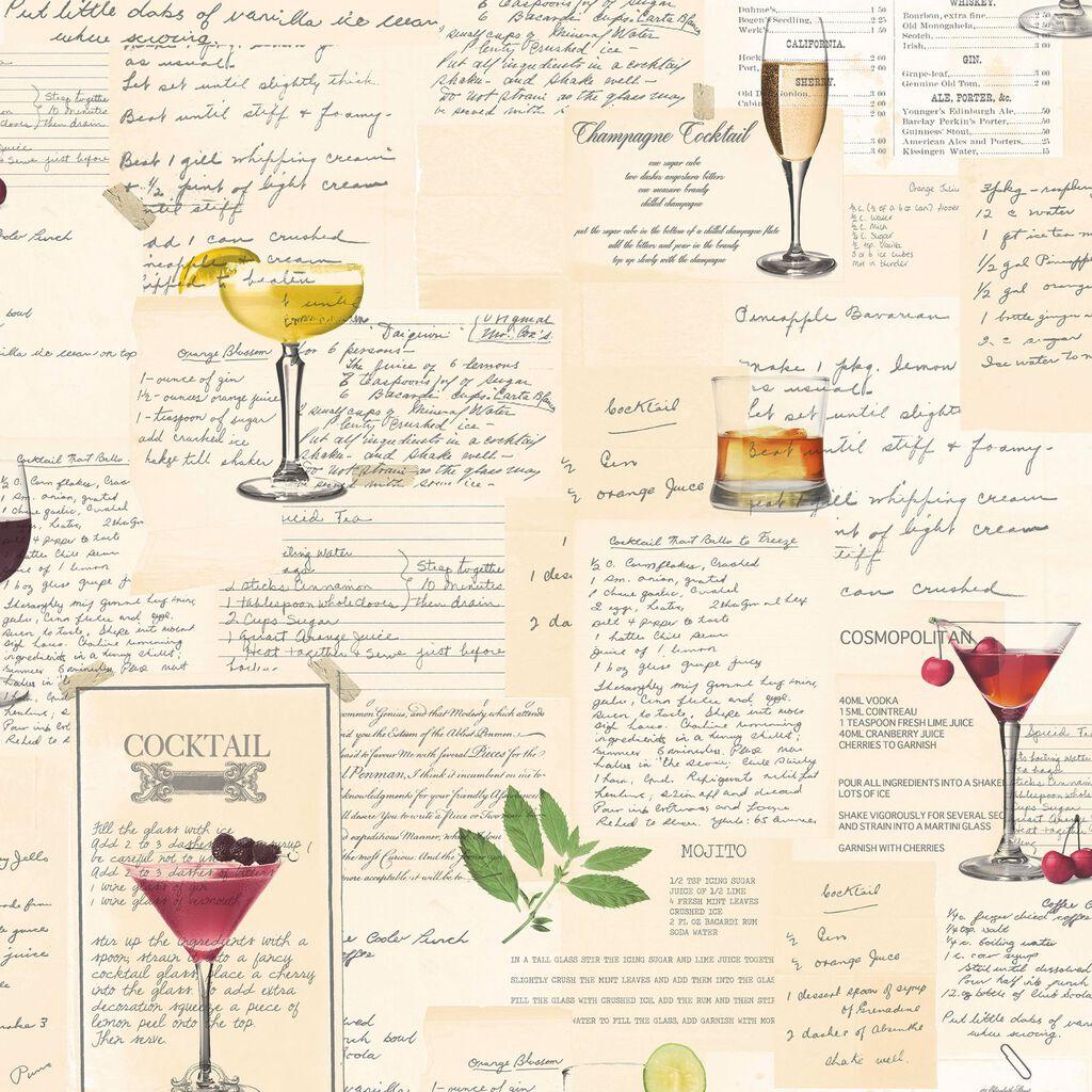 Cocktails Multicoloured Wallpaper