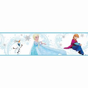 Frozen Anna, Elsa and Olaf Blue Border, , large