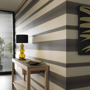 Verve Stripe Brown Wallpaper, , large