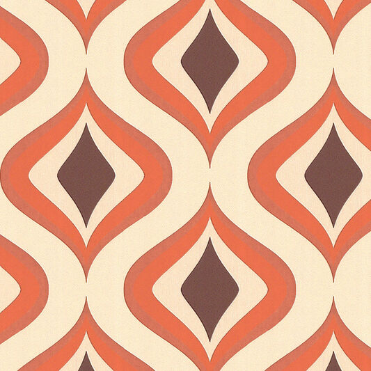 Trippy Orange Wallpaper, , large