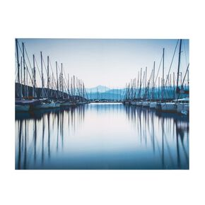 Haven reflectie bedrukt canvas, , large