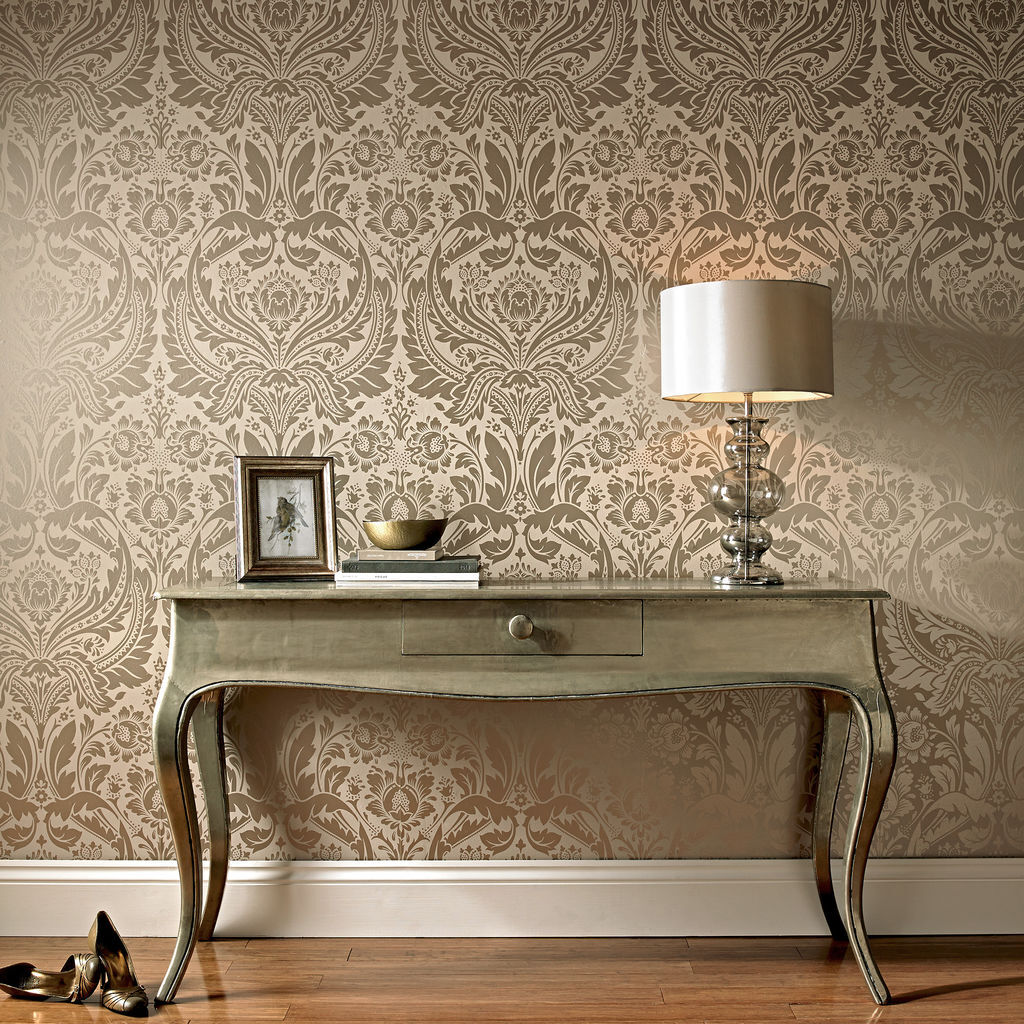 desire taupe and metallic wallpaper graham brown. Black Bedroom Furniture Sets. Home Design Ideas