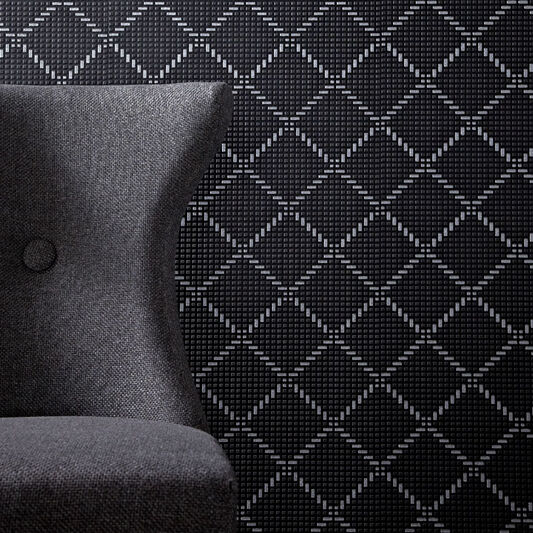 Quantum black and silver wallpaper grahambrownus for Black and silver wallpaper