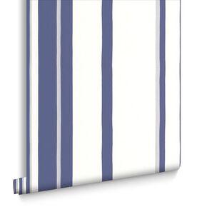 Hoppen Streifen Weiß und Preußischblau, , large
