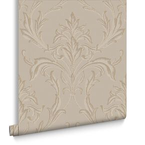 Oxford Beige and Gold Wallpaper, , large