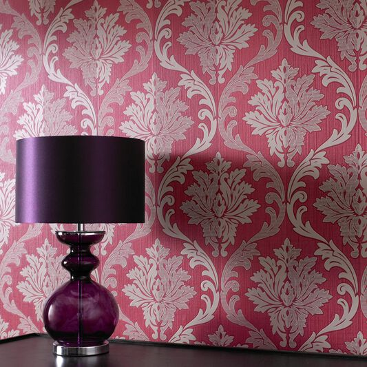 Splendour Red and Cream Wallpaper, , large