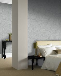 Bella Grey Wallpaper, , large