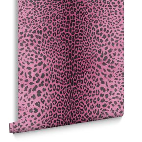 Leopard Pink Wallpaper, , large