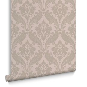 Vintage Flock Moss Wallpaper, , large