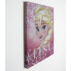 Frozen Elsa Glitter Printed Canvas, , large