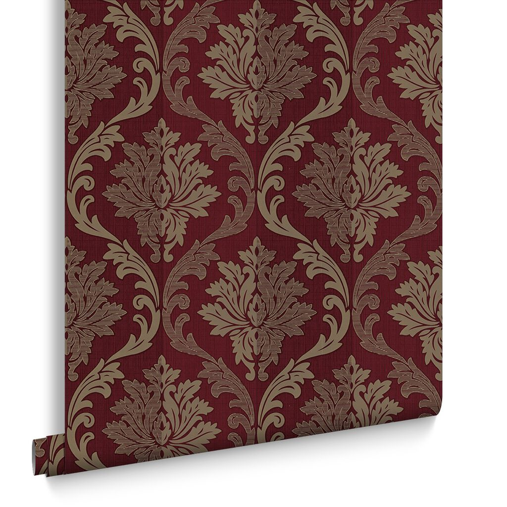 Splendour red and cream wallpaper grahambrownus - Red brown and cream wallpaper ...