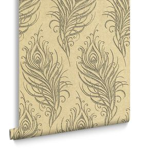 Quill Gold Wallpaper, , large